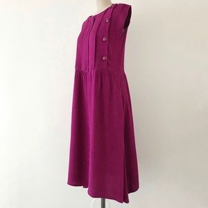 VINTAGE | 80s Pink Cap Sleeve Midi Dress